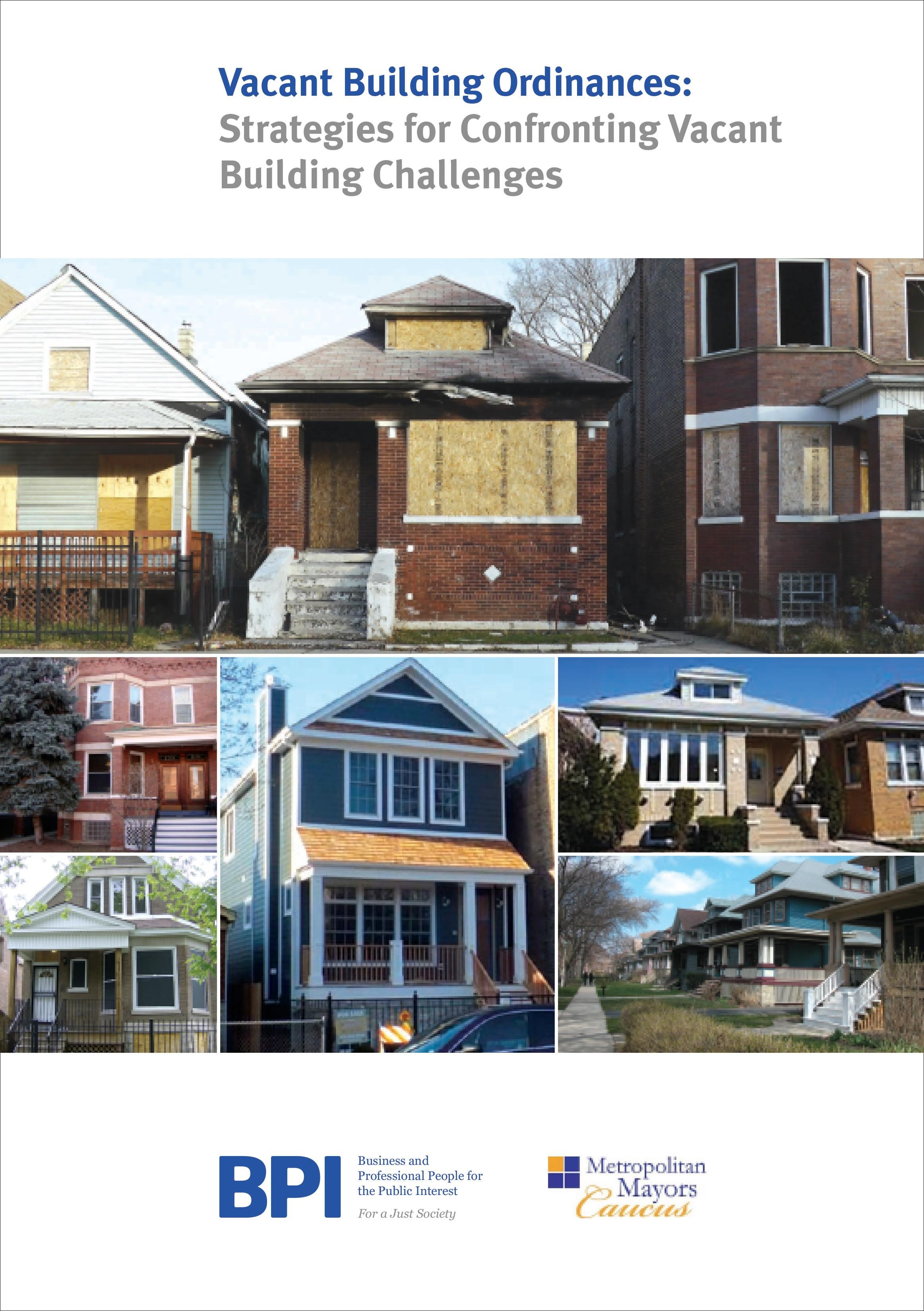 Vacant Building Ordinance Publication Released